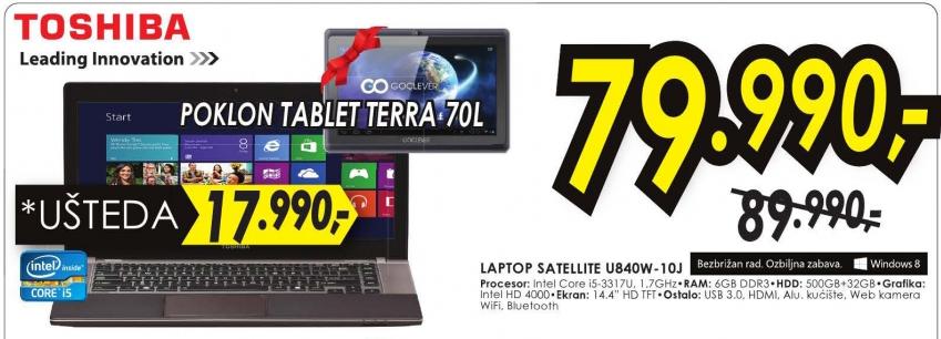 Laptop Satellite U840W-10J