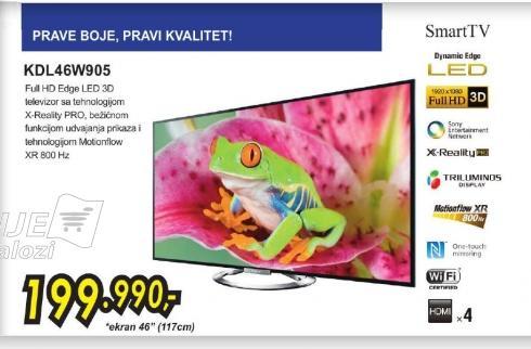 Televizor LED KDL-46W905ABAEP