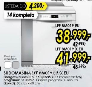 Sudomašina LFF8M019Xeu