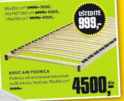 podnica Basic A40 90x190/200