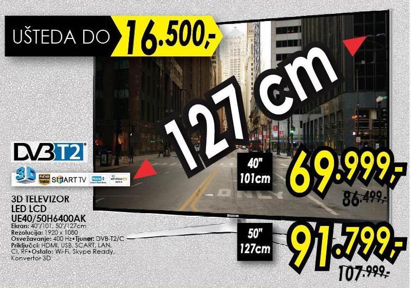 """Televizor 40"""" 3D Ue40h6400ak"""