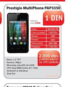 Mobilni telefon MultiPhone PAP3350