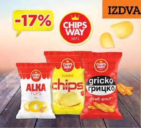17% popusta na Chips Way proizvode