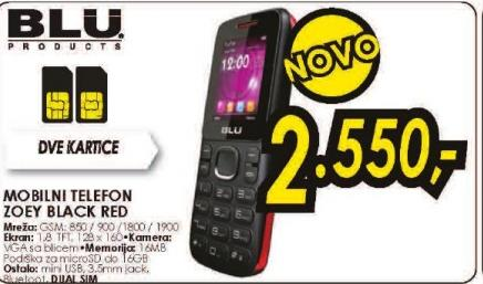 Mobilni telefon BLU ZOEY BLACK/RED
