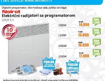 Električni radijator sa programatorom SPOT E II