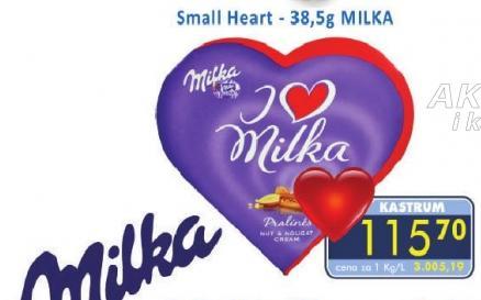 Milka srce