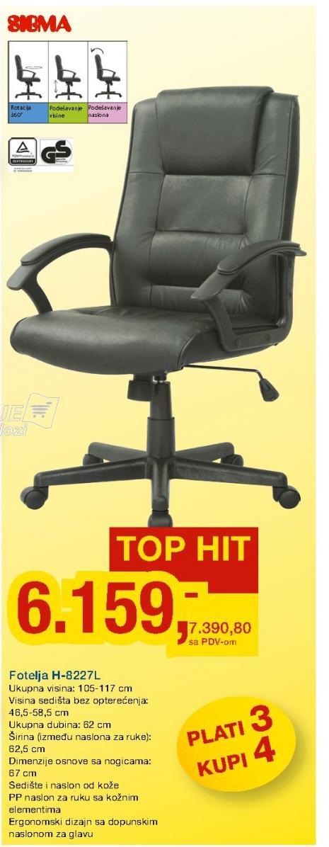 Kompjuter stolica H-8227L