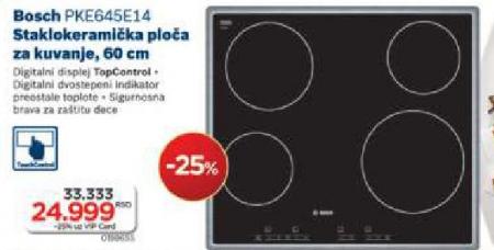 Staklokeramička ploča PKE645E14