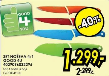 Set noževa 4/1 Good4u 4029096032296
