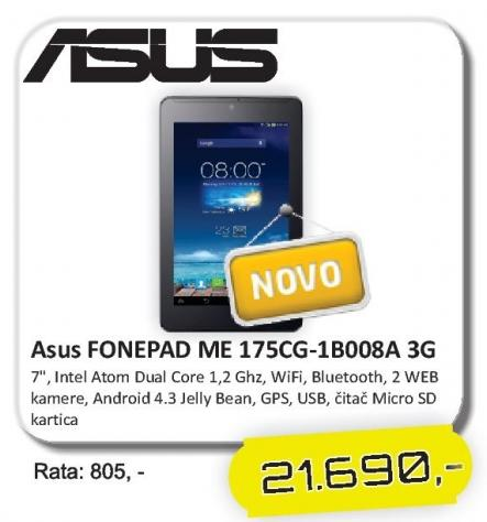 Tablet FonePad Me 175cg-1b008a 3G