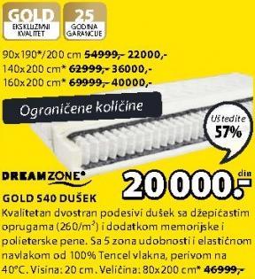 Dušek Gold S40 80x200 cm