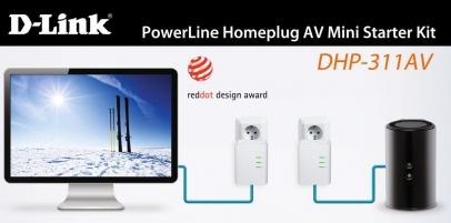 Mini adapter Starter Kit  DHP-311AV PowerLine HomePlug AV
