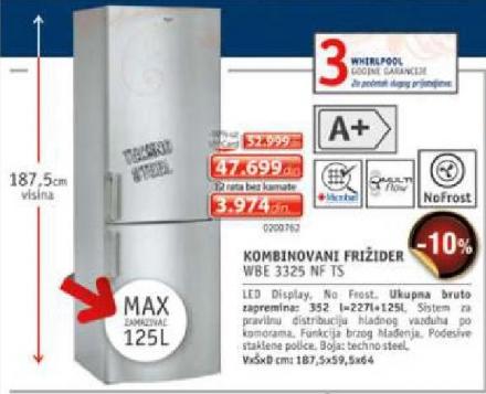 Frižider Wbe3325Nf Ts