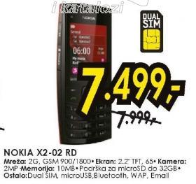 Mobilni telefon X2-02 RD