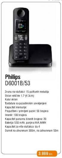 Bežični telefon D6001b/53