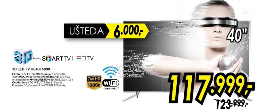 3D televizor LED LCD UE-40F6800