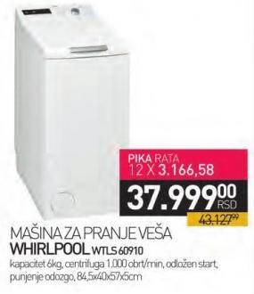 Mašina za pranje veša Wtls60910