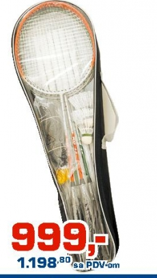 Badminton set za 4 igrača