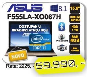 Laptop F555la-Xo067h