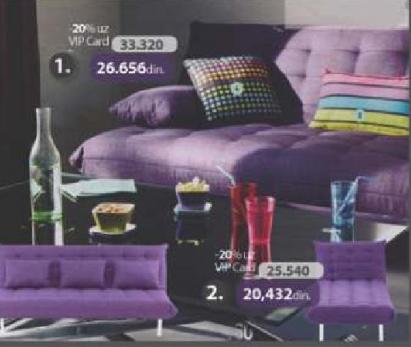 Sofa krevet Pretty stof lila