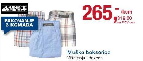 Muške bokserice Authentic
