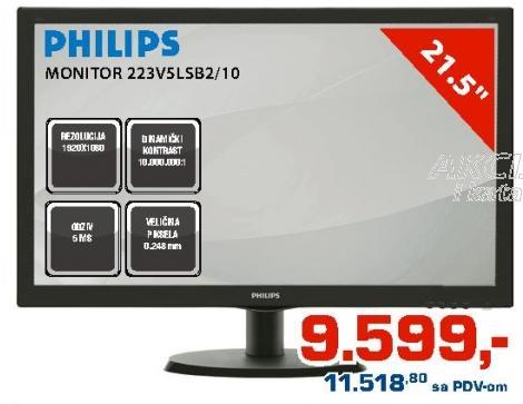 "Monitor LED 21,5"" 223v5lsb2/10"