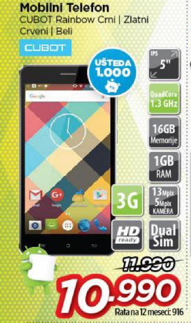 Mobilni telefon Cubot rainbow