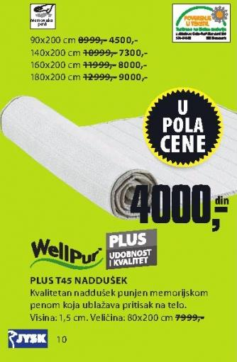 Naddušek Plus T45 90x200