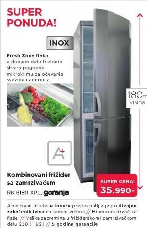 Kombinovani frižider Rk 61811 Xpl