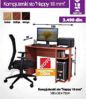 Kompjuterski sto HAPPY 18mm