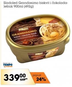 Sladoled biskvit i lešnik