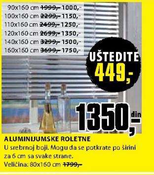 Aluminijumska roletna 80x160 cm