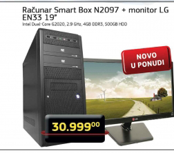 Desktop računar Smart Box N2097 + Monitor LG EN33 19''