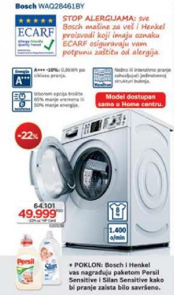 Mašina Za Pranje Veša Waq28461by