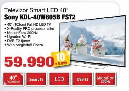 """Televizor LED 40"""" Kdl-40w605b Fst2"""