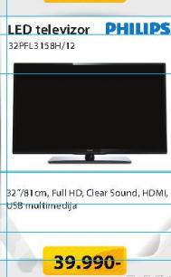 Televizor LED 32PFL3158H/12