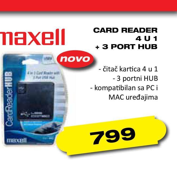 Card reader 4u1