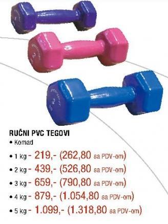 Ručni PVC teg 2kg