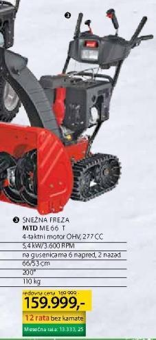 Snežna Freza Mtd Me 66 T