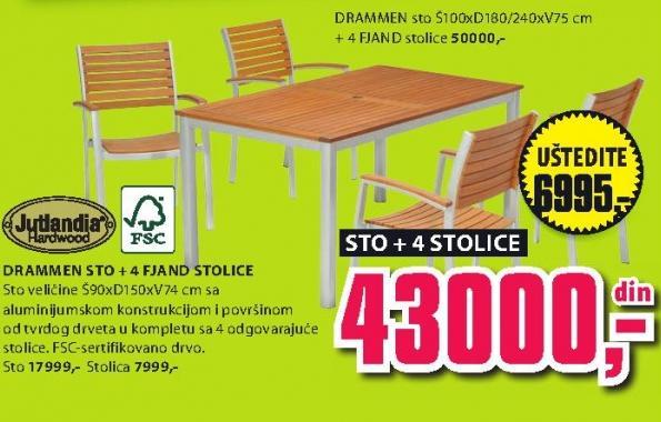 Sto Drammen sa 4 stolice Fjand