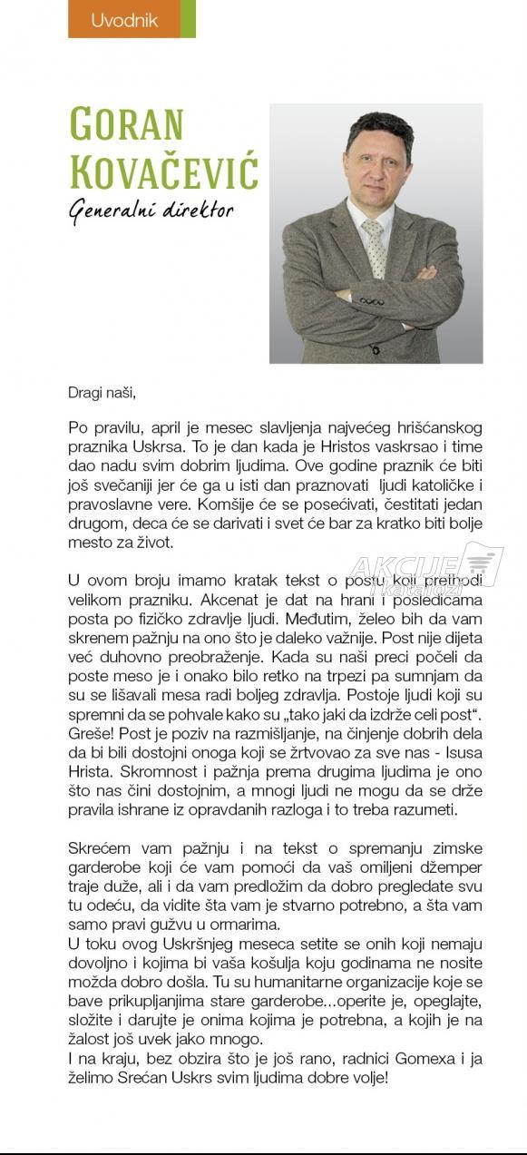 Uvodnik - Goran Kovačević