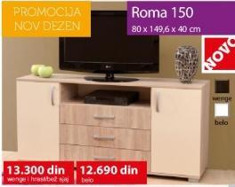 Komoda Roma 150 Wenge i Hrast bež sjaj