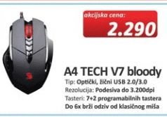 Miš A4 TECH V7 bloody