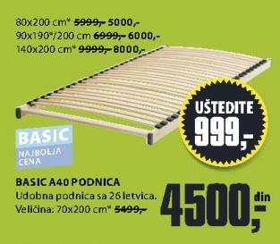 Podnica Basic A40 140x200cm