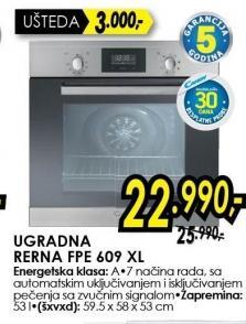 Ugradna Rerna FPE 609 XL