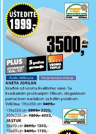 Jorgan Aneta 200x220 cm