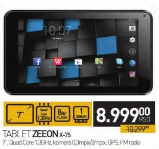 Tablet X-75 Zeeon