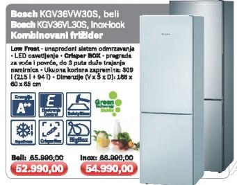 Kgv39Vl30S, Inox-Look Kombinovani Frižider