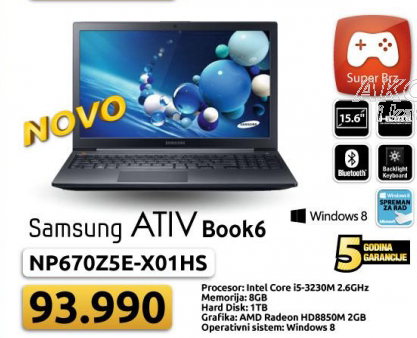 Laptop NP670Z5E-X01HS