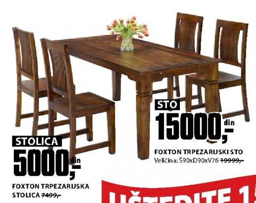 FOXTON TRPEZARIJSKA STOLICA